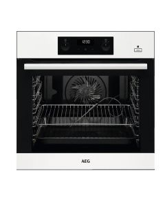 AEG BEB355020W Built-In Single Electric Oven SteamBake White