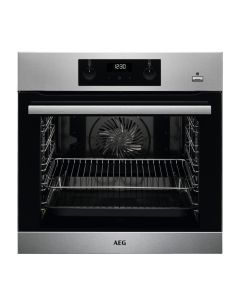 AEG BES355010M Built-In Steam Bake Single Electric Oven Multi-Function