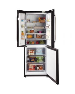 Hotpoint FFU3DG.1K DAY 1 436litre 3-Door Fridge Freezer Class A+ Black