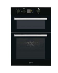 Indesit IDD6340BL Built-in Double Electric Oven Fan Oven Twin Grill Black