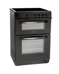 Montpellier MDC600FK 600mm Double Electric Oven Ceramic Hob Fan Oven Black