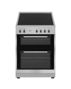 New World NWTOP62CS 600mm Twin Cavity Electric Cooker Ceramic Hob Silver