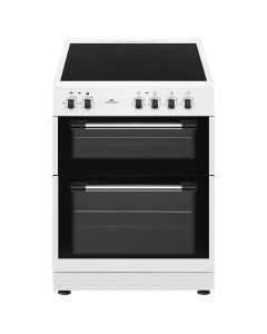 New World NWTOP62CW 600mm Twin Cavity Electric Cooker Ceramic Hob White