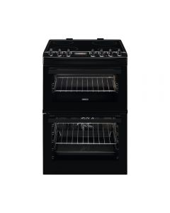 Zanussi ZCV69360BA AirFry 600mm Double Electric Cooker Ceramic Hob SteamBake