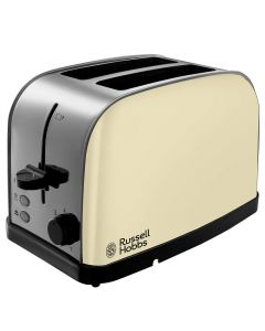 Russell Hobbs 18783 DORCHESTER 2 Slice Toaster Browning Control Cream