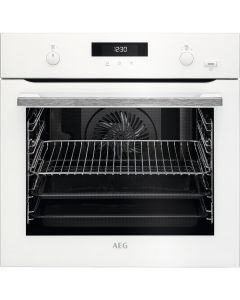 AEG BPS555020W 600mm Built-In Steam Bake Single Electric Oven Pyro