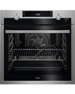AEG BPS556020M 600mm Built-In Steam Bake Single Electric Oven Pyro
