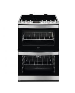 AEG CCB6740ACM 600mm Double Electric Oven Ceramic Hob S/Steel