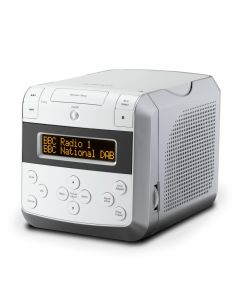 Roberts SOUND48 WHITE DAB/FM CD/Clock Radio Bluetooth Streaming 40 Stations