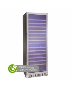 Montpellier WC166X 166 Bottle Capacity Wine Cooler Class G Stainless Steel