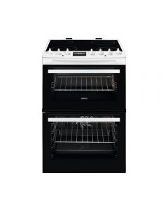 Zanussi ZCV69360WA AirFry 600mm Double Electric Cooker Ceramic Hob SteamBake