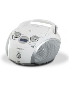 Roberts ZOOMBOX3 WHITE DAB FM Radio CD Player RDS SD Card Slot