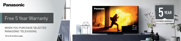 Panasonic FREE 5 Year Warranty